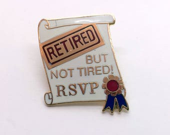 True Vintage Enamel Pin Retired … But Not Tired! Diploma Pin