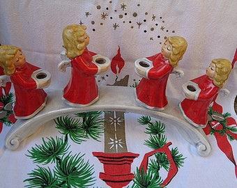 Goebel Christmas Angel Candelabra Vintage