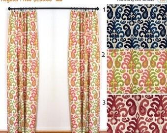 sale curtains 2 curtain panels draperies window treatments pink ikat curtains duralee rasul pink