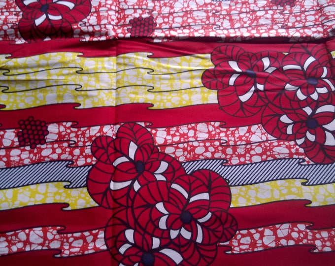1 YARD African Ankara Fabrics Print For Craft Making Dresses Skirts/Sewing Cotton Fabric/Kitenge Pagnes Chitenge/ Suitable For Men and Women