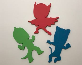 50- PJ Mask Cut Outs for Wall Art Decoration Accessories Party Favor Party Supply Kids Craft