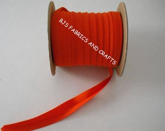 "12 Yards Double Fold Bias Tape EXTRA WIDE 1/2"" BRIGHT Orange"