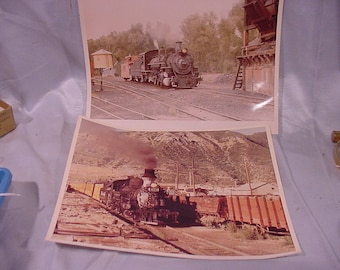 2 Photos of Old Railroad Engines No. 484 & 478