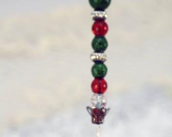 Handmade Hat Pin, Christmas  Hat Pin or Brroch Christmas Colors Hatpin (BB)