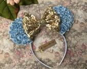 Cinderella Mouse Ears, Princess Cinderella Mouse Ears, Cinderella Birthday Party Ears, Cinderella Disney Mouse Ears, Vacation Ears
