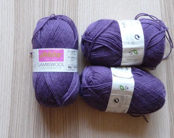 ball wool PHILDAR LAMBSWOOL purple