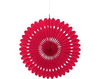Hanging fan 360 rosette red 40cm