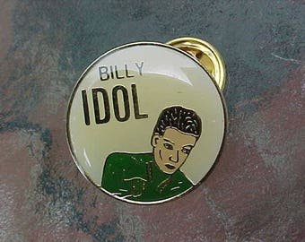 1980s BILLY IDOL Hat Pin Heavy Metal Rock Music Memorabilia Scarce Cool Collectible Accessory Item White Wedding Rebel Yell