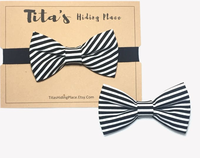 Featured listing image: Black and White Bow Tie