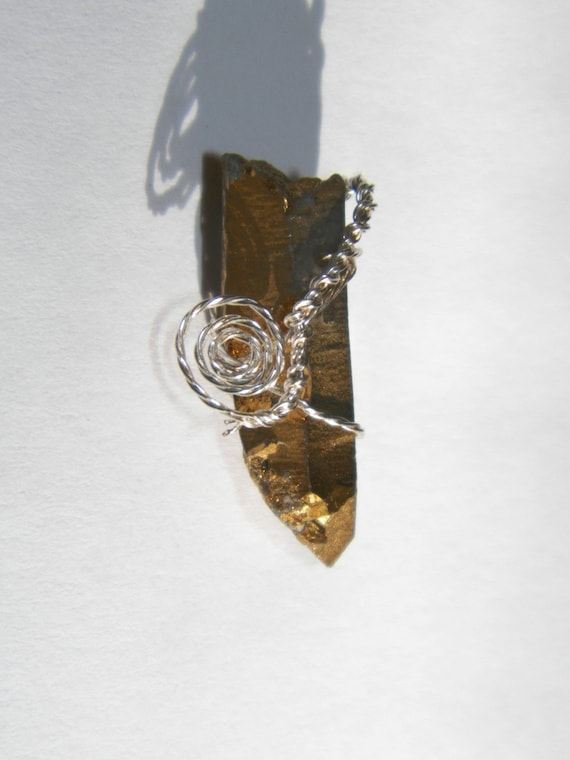 Pyrite Bonded Quartz Prosperity Money Drawing Talisman Amulet Stone Magick Adornments© by Moon Hunter Magick