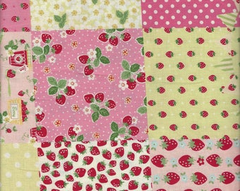 Floral PAtchwork (Col A) from the 30's Collection by Atsuko Matsuyama for Yuwa of Japan