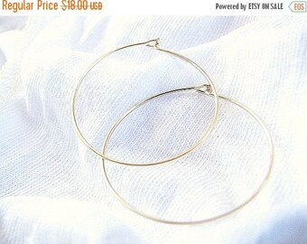 SALE - Gold hoop earrings - Hoop earrings, 14k gold filled earrings