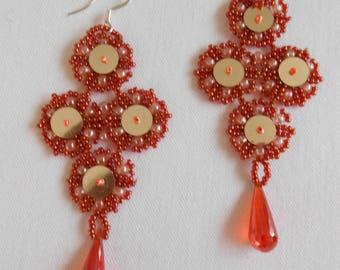 Mirror Lace Earrings