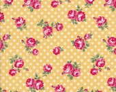 Atsuko Matsuyama Fabric - ATwo Fabric - Pink Rose Fabric - 30s Collection - Yellow Floral - Yuwa