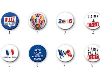 Euro 2016 Football pins badges