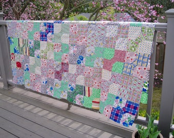 Patchwork Quilt Top, Not quilted, great condition