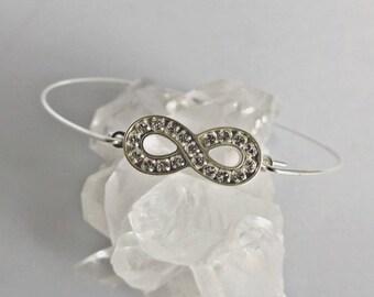 Infinity bracelet, infinity bangle, silver bangle, sterling silver, silver bracelet, silver infinity, infinity, bangle bracelet, K1058