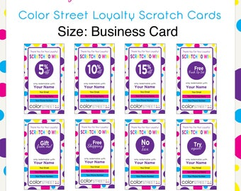 Color Street Loyalty Scratch Cards --Personal Digital Download