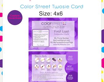 Color Street Twosie 11 Purple 4x6 --Custom Digital Download