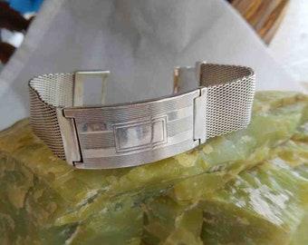 1990s Ralph Lauren Purple label Solid Sterling Silver ID Bracelet Engravable