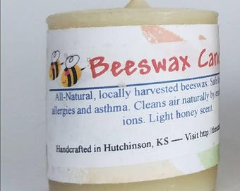Beeswax Candle, Pure Beeswax Candle, beeswax votive candle, Aromatherapy Candle, Natural candle, emergency candle, housewarming gift