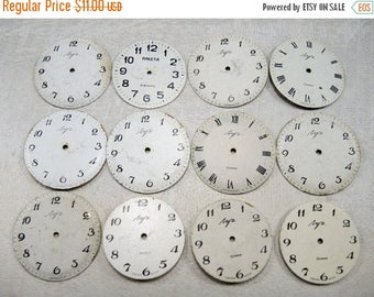 ON SALE Vintage Watch Faces - set of 12 - c27