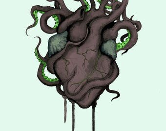 Black Heart Fine Art Print