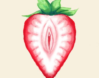 Juicy Strawberry Fine Art Print