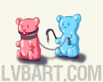 Bad Gummy Bears Fine Art Print