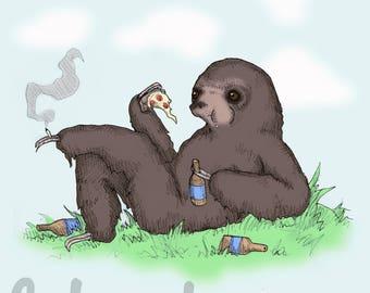Sloth Life Fine Art Print