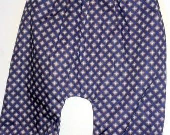 harem pants in purple cotton patterned diamond 6/12 months