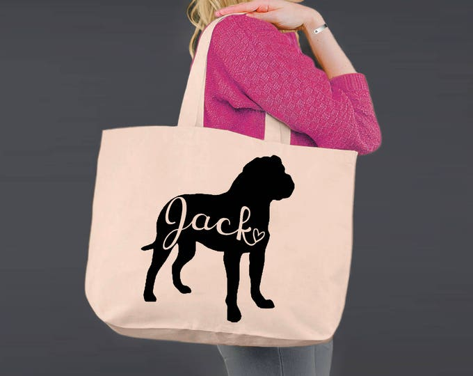 Bullmastiff | Tote Bag | Canvas Tote Bag | Beach Tote | Canvas Tote | Shopping Tote | Shopping Bag | Dog Tote | Korena Loves
