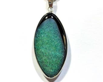 Druzy Agate Crystal Necklace + Free Shipping ~ Agate Jewelry, Crystal Jewelry, Crystal Healing Jewelry
