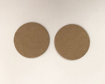 """50 - 1.5"""" Chipboard Circles, Die cut circles, Game board pieces, Bare chipboard, DIY Craft project,"""