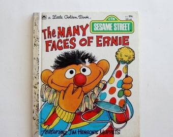 """A Little Golden Book: """"The Many Faces of Ernie"""""""
