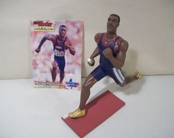 Vintage Starting Lineup Timeless Legends Michael Johnson Sprinter Track Runner Pvc Figure Kenner