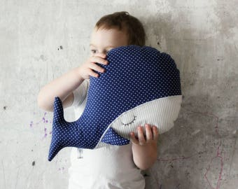 Sleepy whale pillow nursery decor 10x15' primitive stuffed animal toy nautical nursery boho bohemian travel pillow