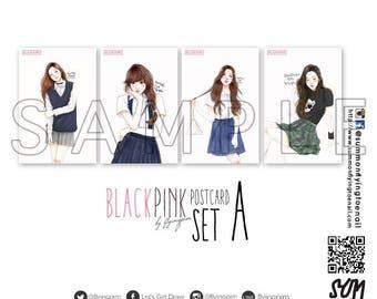 Blackpink @flyingpim Set A Postcard Set (Got permission from @flyingpim already)