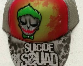 Airbrush custom snapback hats