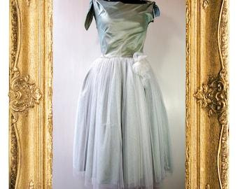 Mint Silk Wedding / Bridesmaid Dress SUMMER CLEARANCE SALE