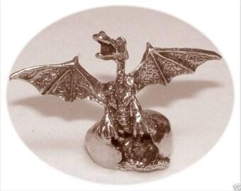 Pewter Hatching Dragon Egg Figurine