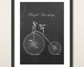 Bicycle Poster, Vintage Bicycles, Bike Poster, Bike Art, Bicycle Print, Bicycle Wall Art, Cycling Art, Cyclist