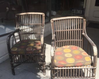 Pair of Antique Rattan Chairs