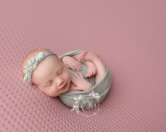 Newborn Photography Fabric Backdrop -  Emery Knit Backdrop - Pink - Newborn Backdrop Posing Fabric