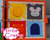 PATTERN & TUTORIAL Puzzle quiet book page - Mouse and cat