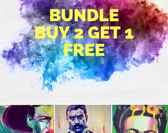 "Buy 2 Get 1 Free Pancho Villa 12""x18"" Revolutionary Portrait Giclee Poster Artist Print Wall Art Colorful Abstract Pop Art"