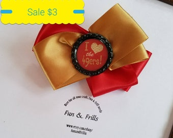 Sale: 49er hair bow