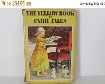 On Sale The Yellow Book of Fairy Tales Childrens Stories  Antique Childrens books Antique Fairy Tale Books
