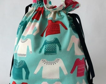 Large drawstring bag sweaters
