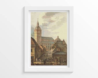 Church Cross Stitch Chart, Cathedral of Turku Cross Stitch Pattern PDF, Art Cross Stitch, Carl Ludvig Engel (ENGEL01)